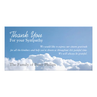Peaceful Sky 1 Sympathy Thank You Photo Card