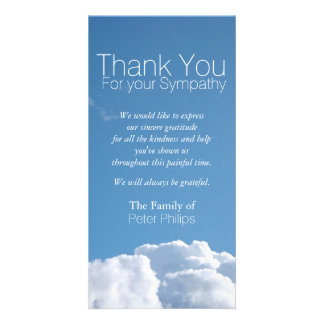 Peaceful Sky 3 - Sympathy Thank You Photo Card