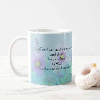 Peaceful Sleep, Psalms 4 Coffee Mug