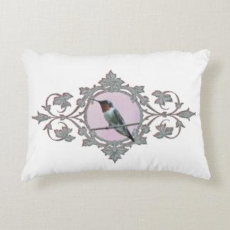 Peaceful Solitary Resting Hummingbird Decorative Cushion