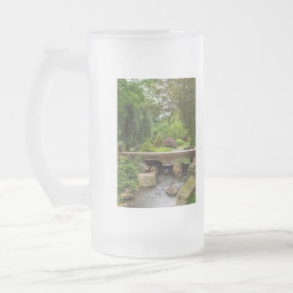 Peaceful Spring Creek Frosted Glass Beer Mug