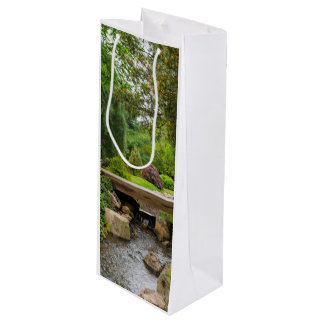 Peaceful Spring Creek Wine Gift Bag