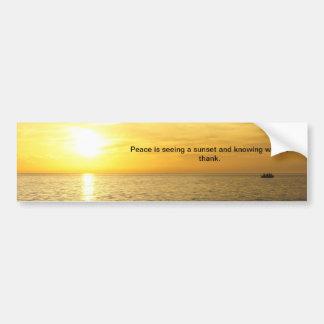 Peaceful Sunset Bumper Sticker