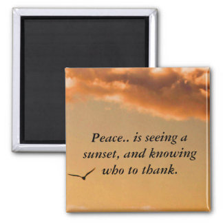 Peaceful Sunset Magnet