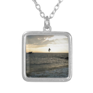Peaceful Sunset over the bay Necklace