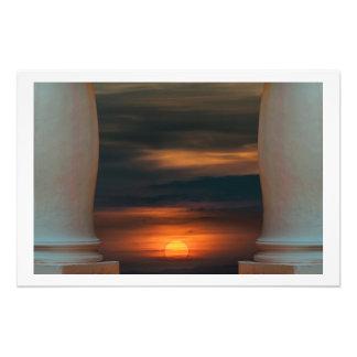 Peaceful Sunset Scene Viewpoint Photo Print