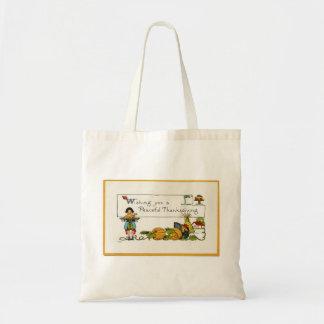 Peaceful Thanksgiving Jumbo Tote Bag