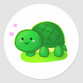 Peaceful Turtle Classic Round Sticker