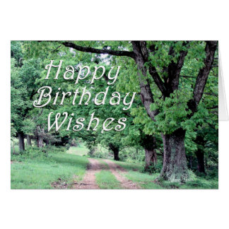 Peaceful Walk Birthday Card