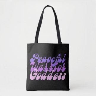 Peaceful Warrior Goddess Tote Bag