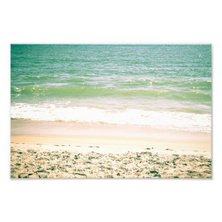 Peaceful Waves Pastel Beach Photography Art Photo