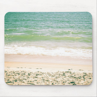 Peaceful Waves Pastel Beach Photography Mouse Pad
