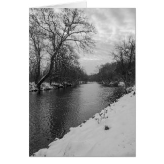 Peaceful Winter At James River Grayscale Note Card