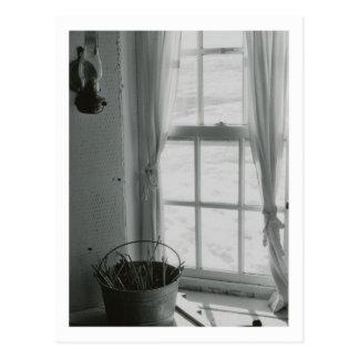 Peaceful Winter Window Postcard
