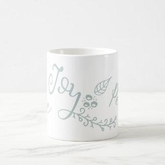 Peaceful Wishes Modern holiday Coffee Mug