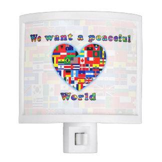 PEACEFUL WORLD night light