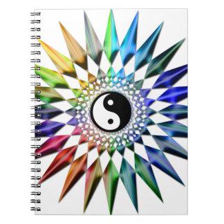 Peaceful Yin Yang Zen Yoga Colorful Meditation Tao Notebook