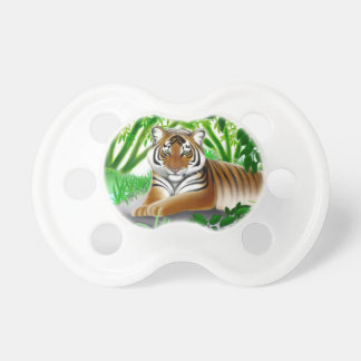 Peaceful Young Bengal Tiger Baby Pacifier