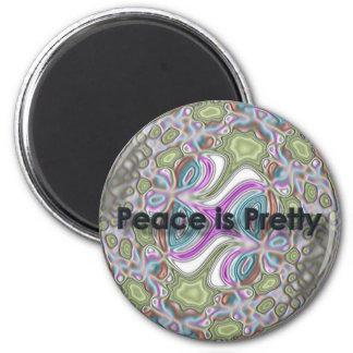 peaceispretty 6 cm round magnet