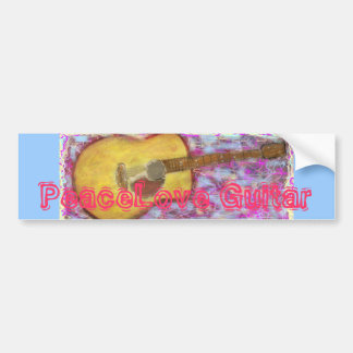 PeaceLove Guitar Bumper Sticker