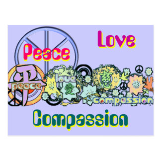 peacelovecompassion postcard