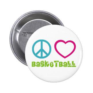 PEACELOVEsymbols-basketball. 6 Cm Round Badge