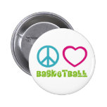 PEACELOVEsymbols-basketball. Pinback Buttons