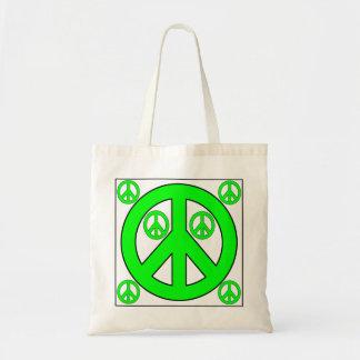 peaces tote bags