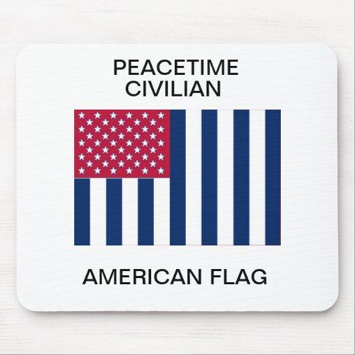 Peacetime civilian American flag Mousepad