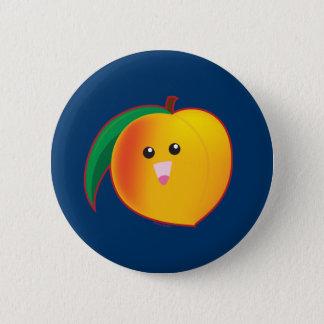 Peach 6 Cm Round Badge
