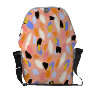 peach abstract commuter bag