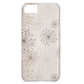 Peach Abstract Flowers iPhone 5C Cases
