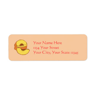 Peach Address Label