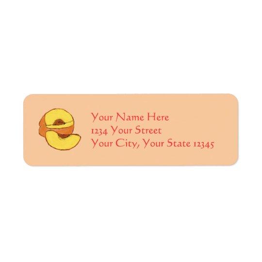 Peach Address Label