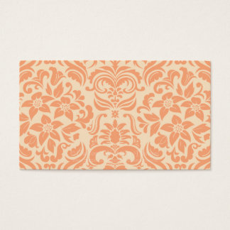 Peach and Cream Damask Wedding Gift Registry Cards