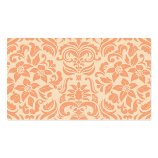 Peach and Cream Damask Wedding Gift Registry Cards Business Card