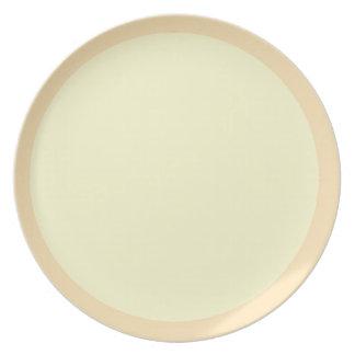 Peach and Cream Plate