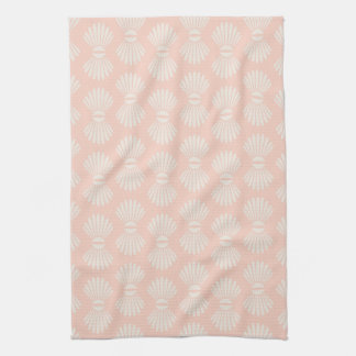Peach and Cream Seashell Towel