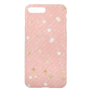 Peach and Gold iPhone Clearly Deflector Case