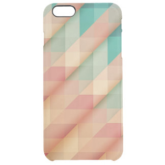 Peach and Green Abstract Geometric Clear iPhone 6 Plus Case