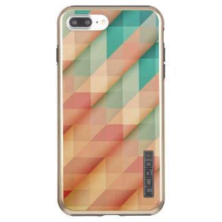 Peach and Green Abstract Geometric Incipio DualPro Shine iPhone 8 Plus/7 Plus Case