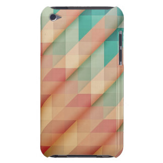 Peach and Green Abstract Geometric iPod Case-Mate Cases