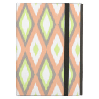 Peach and Green Ikat Pattern iPad Air Case