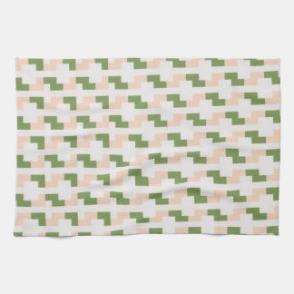 Peach and green kitchen towels