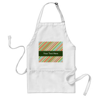 Peach and Green Striped Apron