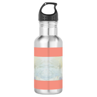Peach And Marble Stripes Pattern 532 Ml Water Bottle