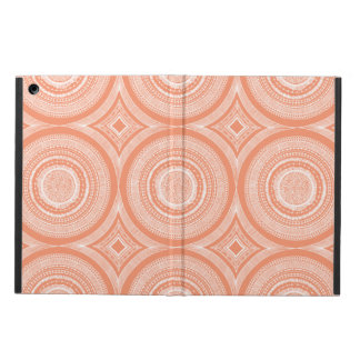 Peach and White Circular Pattern Design iPad Case