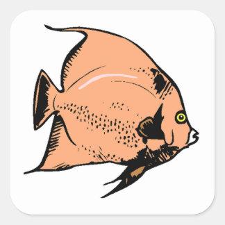 Peach Angel Fish Stickers