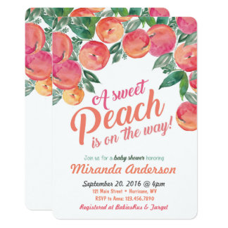 Peach Baby Shower Invitation