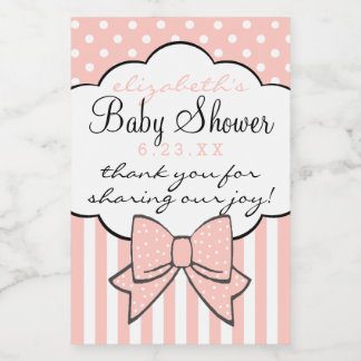 Peach Baby Shower Thank You For Coming Guest Favor Food Label